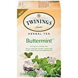 Twinings of London Buttermint Herbal Tea, 20 Count Bagged Tea (6 Pack)