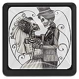 Romantic Skull Love Wedding Drawer Pulls Knob Cabinet Handle 3PCS for Wardrobe Dresser Bookcase Cupboard