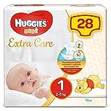 Huggies - Bebè Base - Pañales - Talla 1 (2-5 kg) - 28 pañales