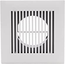 HG POWER 4 Inch Diameter Soffit Vent Adjustable Square Louver ABS Intake Vent Grill Cover White