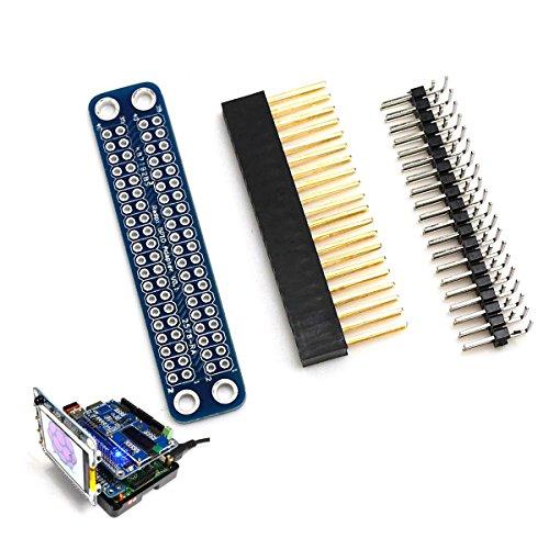 DollaTek Zerlegter Doppel-GPIO-Adapter für Raspberry Pi 3 Modell B, 2 Modell B, A +, B +, Null GPIO nach vorne