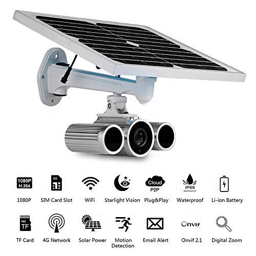 Balscw-J 4G LTE Red inalámbrica 1080P Energía Solar con batería Cámara IP 3G gsm CCTV Vigilancia WiFi Ranura para Tarjeta SIM al Aire Libre