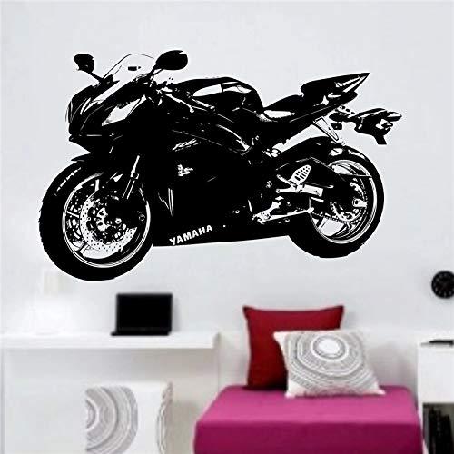 Pegatinas de pared de motocicleta grandes, decoración de dormitorio para niños, película de vinilo para pared, película de vinilo, pegatina de pared para habitación de niños