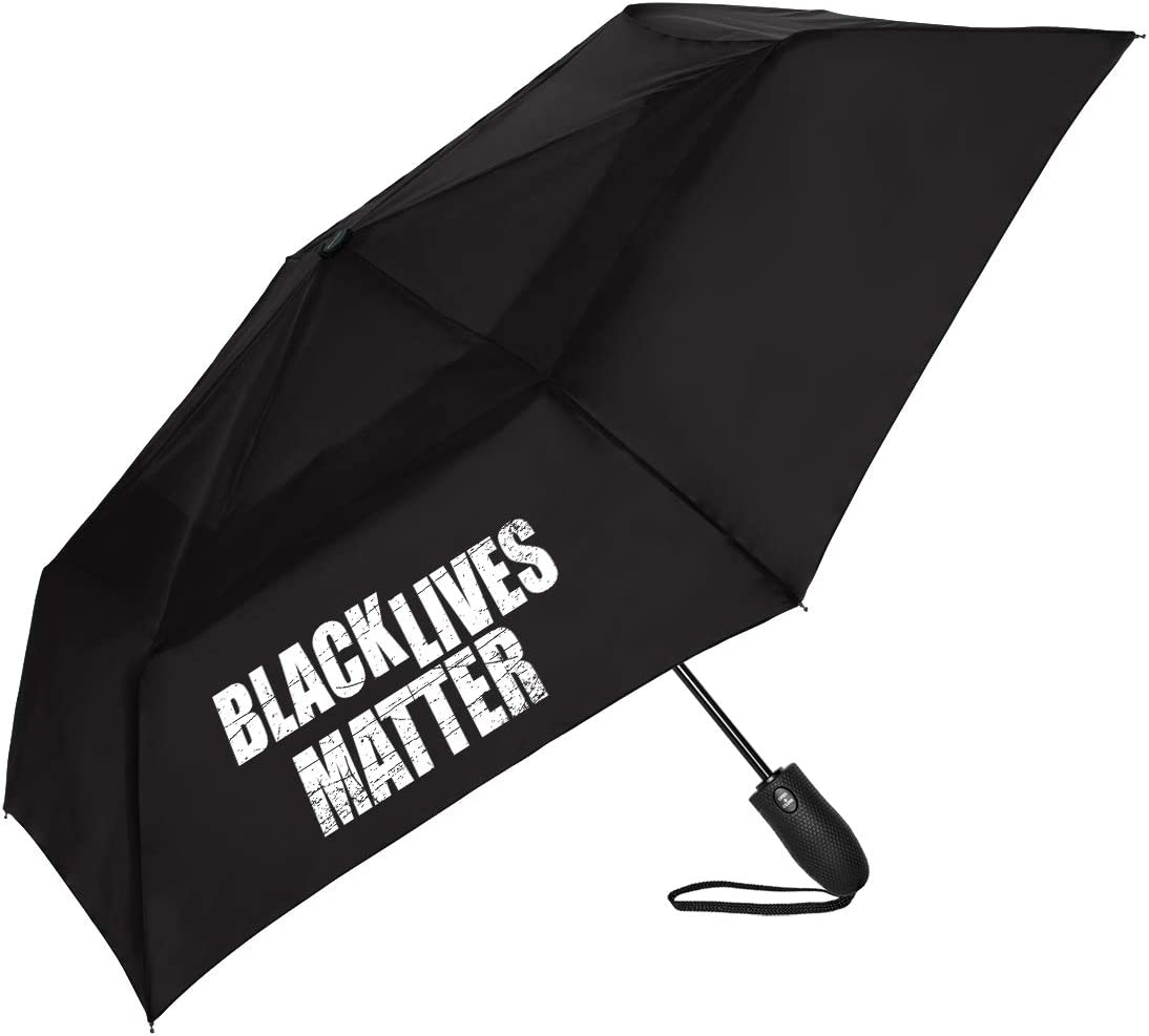 Black Lives Matter Windjammer Compact Spring new work Automatic Open Umbrella a Manufacturer direct delivery