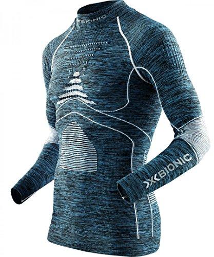 X-bionic Camiseta m/l evo melange cuello redondo hombre gris melange/