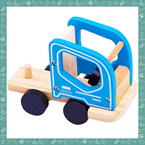 Jaques of London Low Loader | Toy Cars | Quality Wooden Toys Car Toys | Toddler Toys for 2 3 4 year old Boy and Girls | Toy Cars for 2 Year old Boys | Since 1795