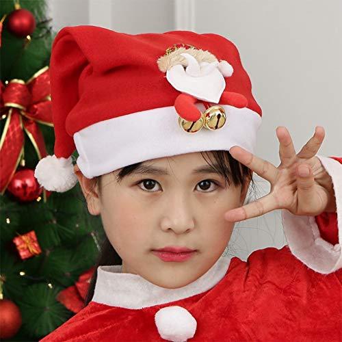 Dasongff Kerstmuts voor kinderen, kerst, Santa, rendier, hoed, haarsieraad, 3D kerstmutsen met bell, kostuum accessoires Small A