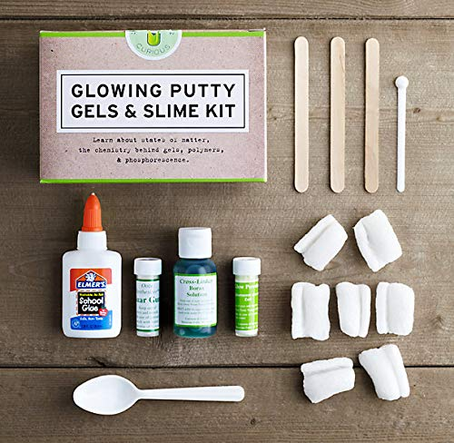 Glowing Putty Gels and Slime Chemistry Kit | Do 15 slimy experiments | Safe & non toxic | Made in the USA | Copernicus Toys