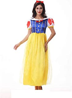 741001b2c3ff Shisky Costume da Cosplay Donne, Costume di Halloween per Adulti Costume  Biancaneve Costume Partito Fase