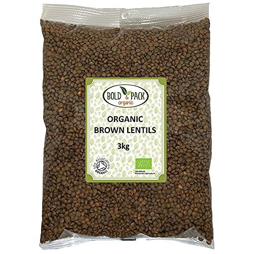 Bold & Pack - Lentejas marrones orgánicas (3 kg)