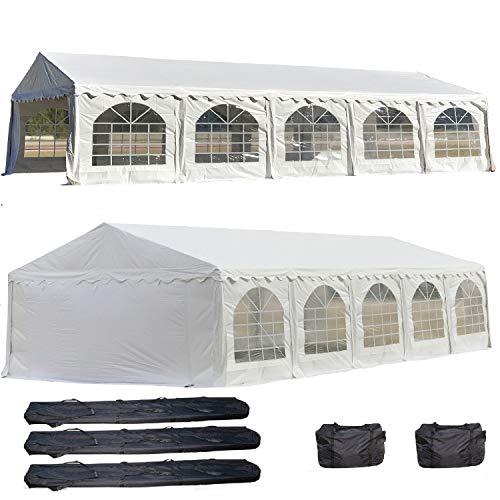 DELTA Canopies 32'x20' PVC Party Tent - Heavy Duty Wedding Canopy Gazebo Carport - with Storage Bags - By