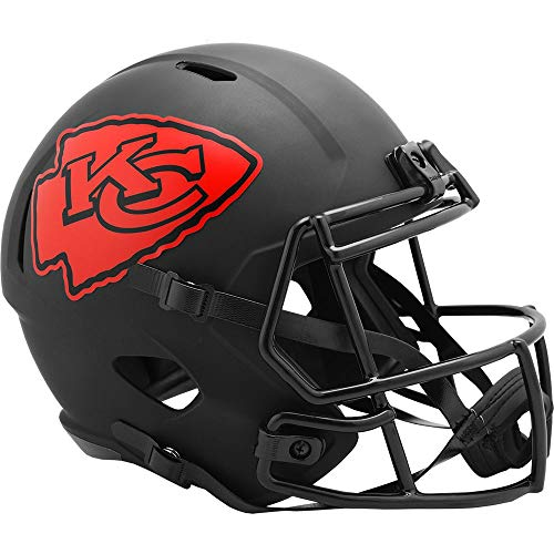 Riddell Kansas City Chiefs 2020 Black Speed Replica Full Size Football Helmet