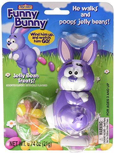 Funny Bunny Wind-up Jelly Bean Pooping Easter Bunny Candy Dispenser (Colors Vary)