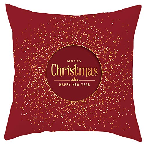 Cuteelf Kissenbezug Frohe Weihnachten Dekoration Matte Set Winter Zwerg Elch Weihnachtsmann Muster Baumwolle Leinen Dekokissenbezug Set Hauptdekoration 18x18 Zoll