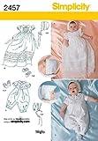 Simplicity 2457 - Patrón de Costura para Ropa Elegante de bebé (Tallas XXS a M)