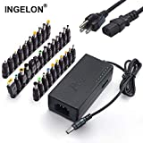 Ingelon 34PCS Laptop Charger,96W AC Power Adapter 12V-24V Replacement Charger Universal Adapters with US Power Cord for Acer Asus Toshiba Dell Lenovo IBM HP Compaq Sony DVD LCD Laptop/Notebook
