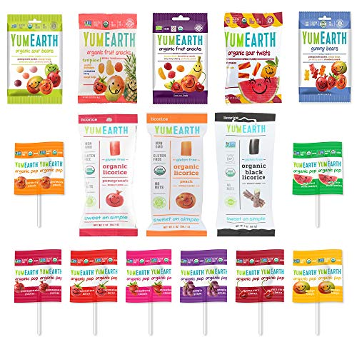 YumEarth Organic Candy Sampler Variety Gift Box Care Package (34)