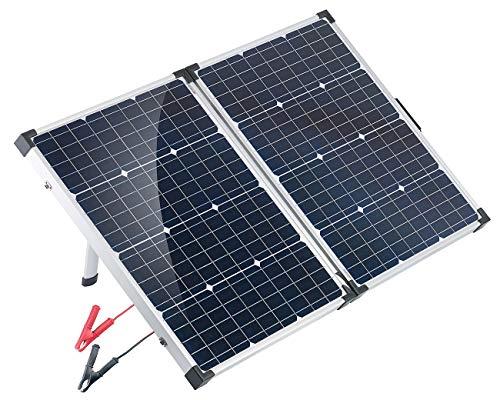 reVolt Solarkoffer: Faltbares mobiles Solar-Panel mit monokristallinen Zellen, 110 Watt (Solarpanels faltbar)