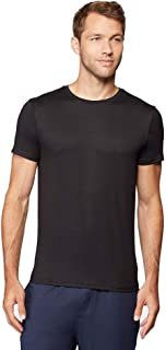 Mens Cool Quick Dry Active Basic Crew T-Shirt