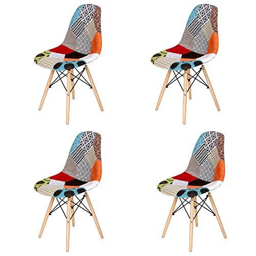 Sillas De Cocina Pack 4 De Tela sillas de cocina pack 4  Marca GrandCA HOME
