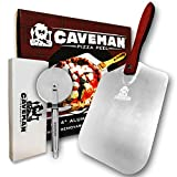 Caveman Products Aluminum Metal Pizza Peel - Folding Wood Handle for Easy Storage - 12-inch x...