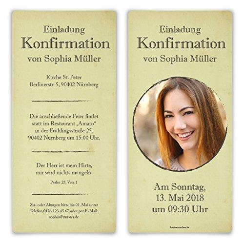 20 x Konfirmation Einladungskarten Konfirmationseinladungen Konfirmationskarten - Seelenliebe