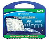 eneloop Power Pack, 1800 cycle, 8 AA, 2 AAA, 2 'C' and 2 'D' Spacers, 4 Position Charger, and Storage Case