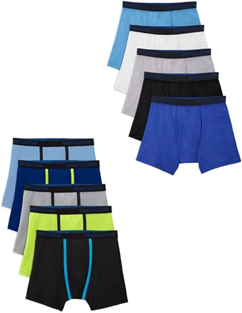 Fruit of the Loom Boys' Breathable Mesh Boxer Briefs