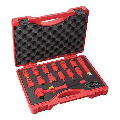 Vigor VDE-Steckschlüssel-Satz V3343 ∙ Anzahl Werkzeuge: 14