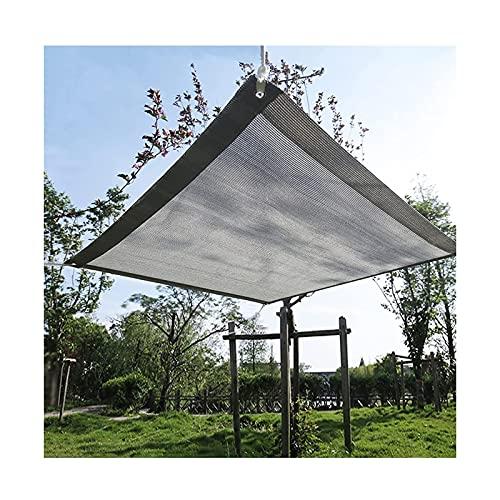 MALSWDJX Shadow Network Coloring Network Grey Sunscreen Protezione Ultravioletta Balcone/Giardino all'aperto/casa/Floreale Terrazza Prato (Color : Gray, Size : 3x8m)