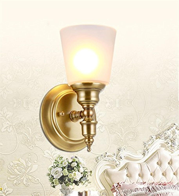 StiefelU LED Wandleuchte nach oben und unten Wandleuchten Wandleuchte Schlafzimmer Tischleuchte Wand leuchten Antike passage Flur Spiegel vorne Lampen Messinglampen 110  235 mm breit