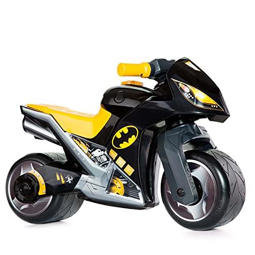 Motorrad-Aufsitz Molto Cross, ab 18 Monaten, geländegängig, Hightech-Spielzeugdekoration, löst Sich Nicht ab. Sportliches und einzigartiges Design (Schwarz - Batman)