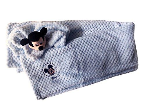Disney KS0303WD Soft-Fleecedecke + DOU DUDUDU Wiege Disney Baby KS0303WD Topolino Baby Celeste Ks0203wd