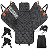 MIXJOY Dog Car Seat Cover, Dog Seat Cover with Mesh Window, Dog Hammock for Car with Storage Pocket, Car Seat Covers for Dogs Safety with Seat Belt, Backseat Dog Cover Protector for Bench Trunk