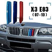 ラジエーターグリル 3pcs ABS For B-MW X3 E83 F25 G01 X4 F26 G02 Car Racing Grille Strip Trim Clip M Power Performance Accessories 07-17 18-20 (Color : 2007 2010 X3 E83)