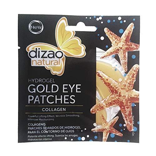 Dizao Organics 100% Colágeno, Parches para el Contorno de Ojos Hydrogel Gold - 1 Unidad