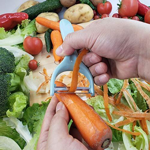 EverWin Vegetable Potato Peelers for Kitchen Peeler Stainless Steel for Potato Carrot Apple Veggie Fruit, Y-Shaped