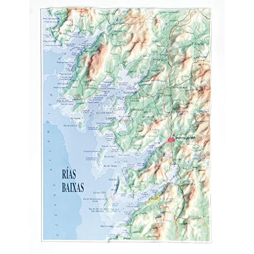 Mapa en relieve de Rias Baixas: Escala gráfica