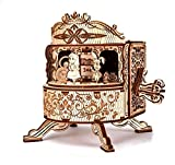 Wood Trick Fairy Theater Happy Birthday Wooden Music Box Kit - w/Fairy Characters - Hand Crank - 3D Wooden Puzzle for Adults and Kids to Build - DIY