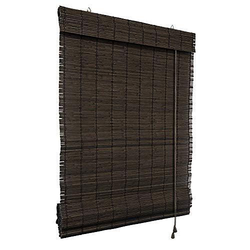 Victoria M. - Persiana de bambú para Interiores, marrón Oscuro, tamaño: 110 x 220 cm