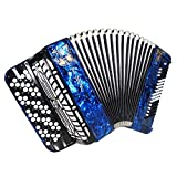 Brand New 5 Row Lightweight Tula Bayan Russian Button Accordion Perfect for Beginners Children Kids 80 Bass BN 51 Beautiful and Powerful Sound! incl. Straps, Case.