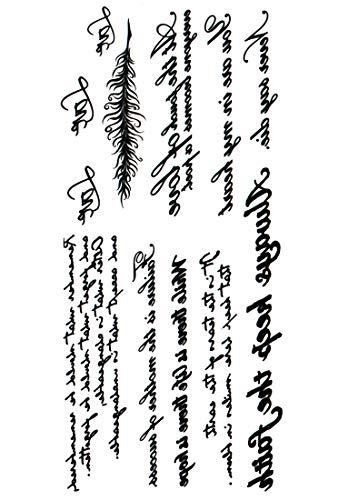 (ファンタジー) TheFantasy タトゥーシール 英文字 hb067 【中型・A5】