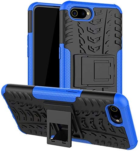 Wellpoint|Designed for |Realme C2 Back Cover|Realme C2 Cover|Realme C2 pro case|Realme C2 pro Rugged case|Rubber (Black) (Blue)