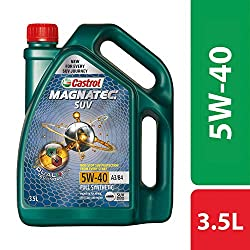 Castrol - 3421148 MAGNATEC SUV 5W-40 Full Synthetic Engine Oil for Petrol, CNG and Diesel SUVs (3.5L),Castrol,3421148