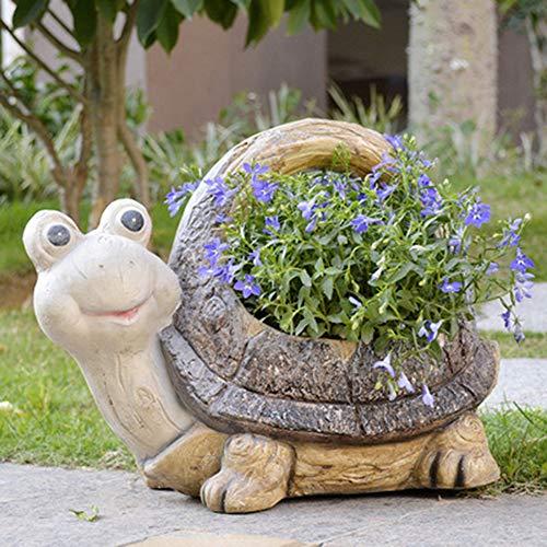 LLFFDC Maceta con Forma De Tortuga, Maceta Suculenta De Resina Creativa, Maceta De Jardín para Interiores Y Exteriores