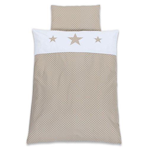 Babybay Parure de lit pour enfant Motif étoile Blanc