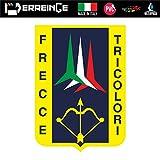 erreinge Sticker FRECCE Tricolore Italia Adesivo Sagomato in PVC per Decalcomania Parete Murale Auto Moto Casco Camper Laptop - cm 10