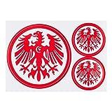 Eintracht Frankfurt 3er Set Aufkleber, Sticker, Autoaufkleber Logo rot - Plus gratis Aufkleber Forever Frankfurt -