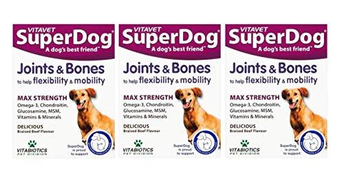 Vitavet Superdog Joints & Bones Tablets 30s (Pack of 3)