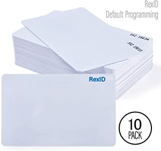 Default Programmed RexID H10301 PVC ISO Proximity Card for Access Control System. Comparable to Standard 26 bit Format for Add-On & Replacement on Current System (10 Pack, Facility Code - 101